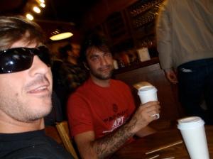 Eu e Vitor. Cafe Brake em San Francisco