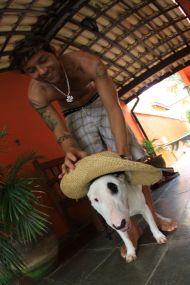 Leandro e seu filho Bruce
