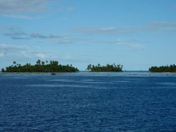 Visual do barco durante a viagem.