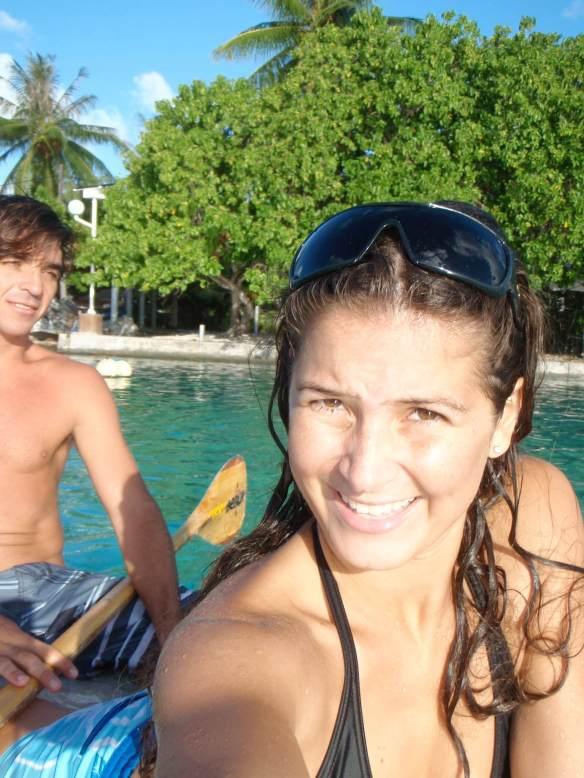 Koxa e sua mulher cinegrafista Aline Cacozzi.