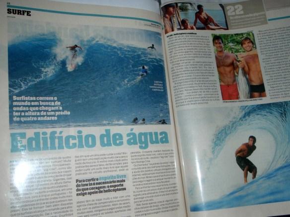 "Rodrigo Koxa ""Revista A+"" Jornal Lance. Pipeline/Teahupoo..."