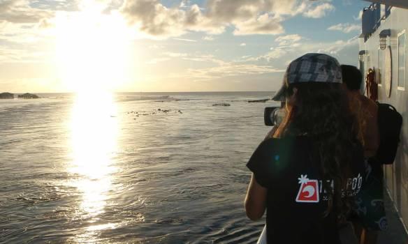 Aline Cacozzi passou filmando a maioria do tempo na viagem.