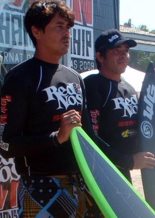 Erik e Koxa ficaram com a 4-colocação ficando em segundo na bateria.
