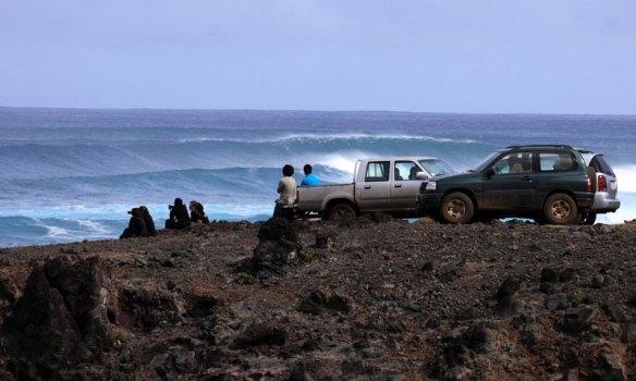 Swell chegando em Rapa Nui. Foto:Akiwas