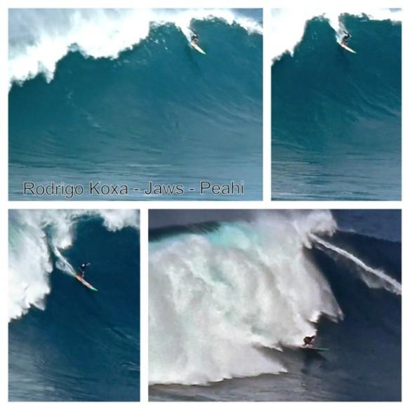 Rodrigo Koxa completando um air drop na esquerda de JAWS. 31/12/2012. Fotos:AlineCacozzi