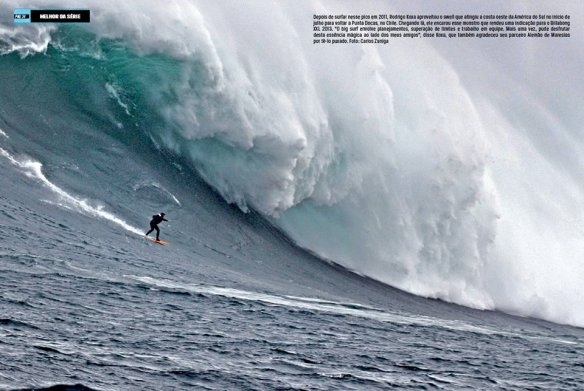 Pagina dupla da revista SURFAR.