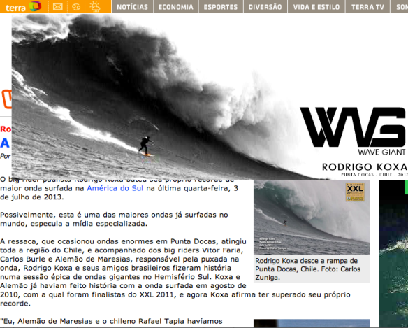 Rodrigo Koxa anuncio WG no waves