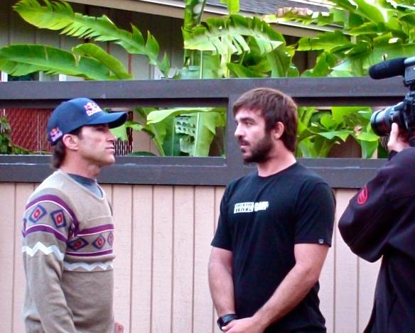 Rodrigo Koxa e Carlos Burle gravando para o CANAL OFF do programa Desejar Profundo.