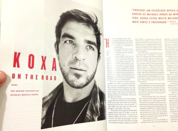 Rodrigo koxa On The Road, matéria de perfil da Revista Hardcore. outubro de 2013.