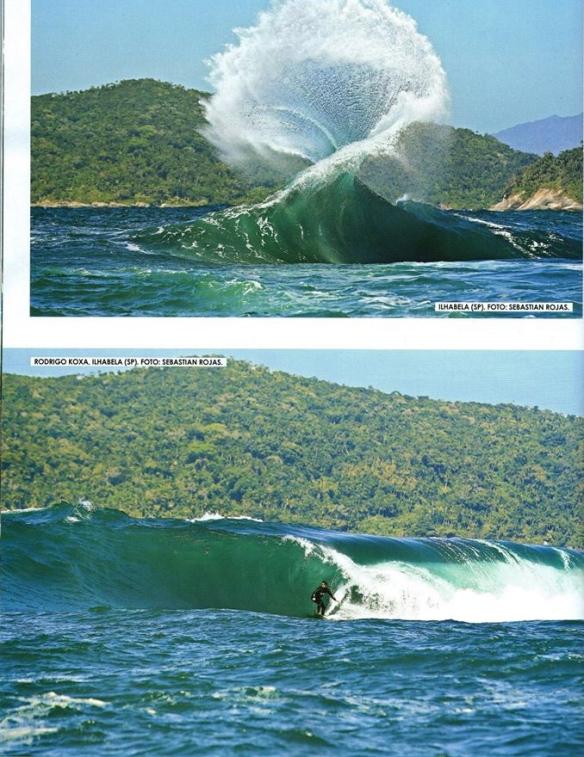 Rodrigo Koxa na FLUIR de setembro, surfando na laje do Samuel em Ilha Bela. Foto: Sebastian Rojas