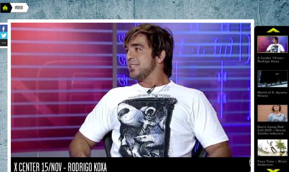 Rodrigo Koxa 15 de novembro ao vivo na ESPN no programa XCENTER.