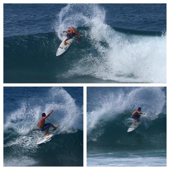 Rodrigo Koxa num surf de manobras em Rocky Point. Hawaii. Fotos: Aline Cacozzi