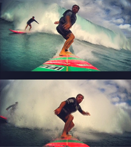 Rodrigo Koxa dropando Waimea 23/1/2014. Foto: XTRAX
