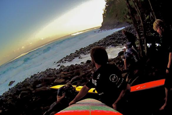 Rodrigo Koxa em mais um momento de adrenalina que é a hora de entrar pelas pedras. Foto:Xtrax